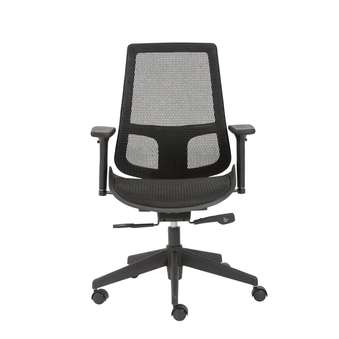 eurostyle Vahn Office Chair in Black with Black Base 90534BLK 727511940532
