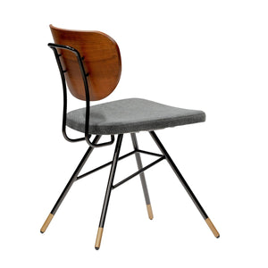 eurostyle Miriam Side Chair in Natural and Gray Fabric with Black Metal Legs 94214DKGRY 727511973196