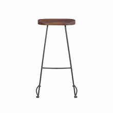 Load image into Gallery viewer, Antero Bar Stool in Walnut with Sanded Black Base - Set of 2