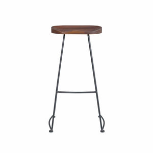 Antero Bar Stool in Walnut with Sanded Black Base - Set of 2