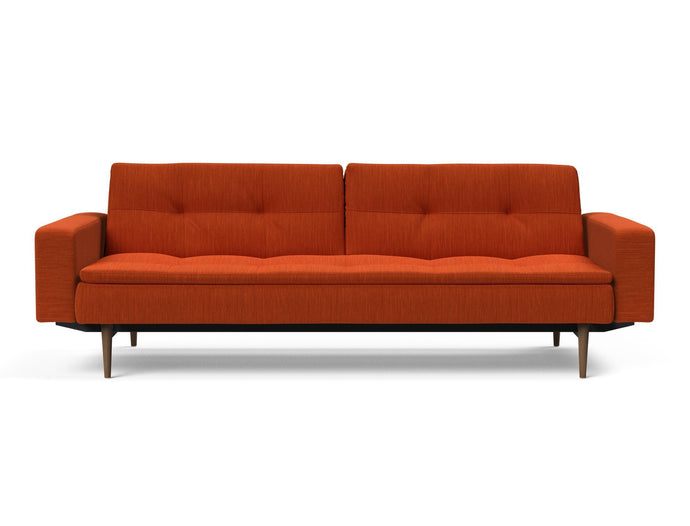 Dublexo Sofa with Arms, Stainless Steel Legs
