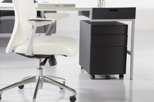 eurostyle Floyd 3 Drawer File Cabinet in Black