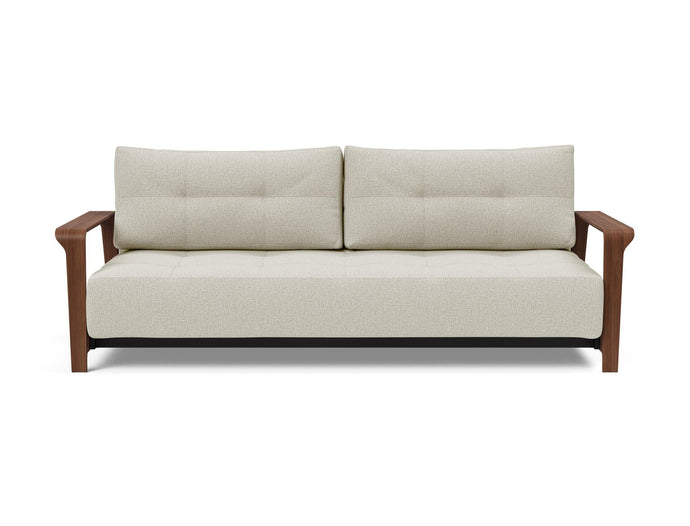 Ran Deluxe Excess Lounger Sofa with Walnut Arms & Legs
