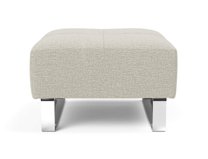 Deluxe Excess Ottoman with Chrome Legs