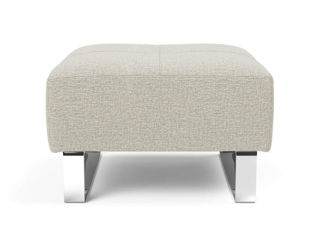 INNOVATION Deluxe Excess Ottoman with Chrome Legs 95-748251527-0