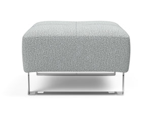 INNOVATION Deluxe Excess Ottoman with Chrome Legs