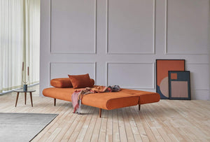 INNOVATION Unfurl Lounger Sofa with Dark Wood Legs