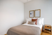 Load image into Gallery viewer, Neutral Beige Waffle Bed Coverlet