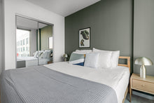 Load image into Gallery viewer, Neutral Grey Waffle Bed Coverlet