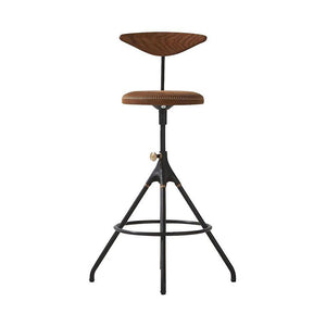Akrone Genuine Leather Bar Stool