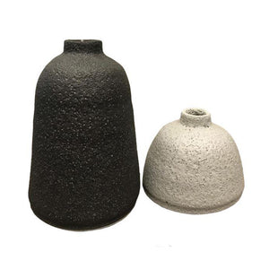 Earth Textured Ceramic Vase Set of 2