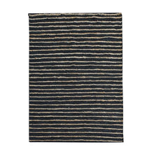 Load image into Gallery viewer, Estella Natural Black Stripe Leather Rug