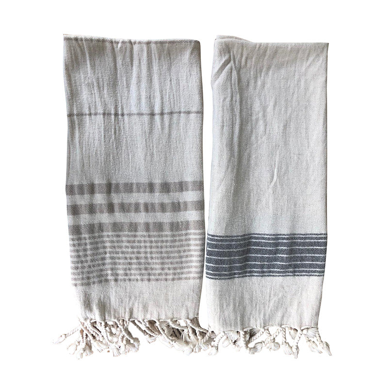 Authentic Turkish Tea Towel Fringe Set