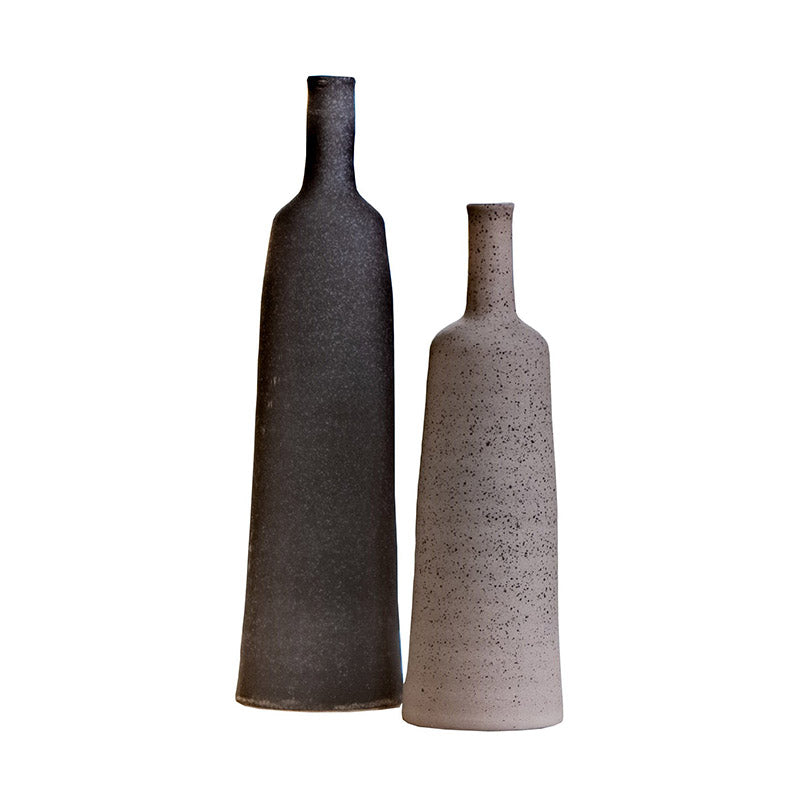 Monochrome Ceramic Vase Set of 2