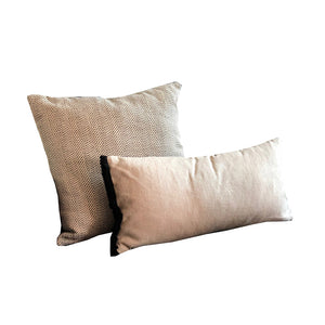 Neutral Herringbone Pillow Set of 2