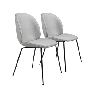 Saturn Upholstered Grey Dining Chair (Set of 2)
