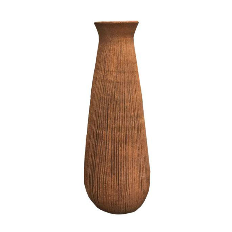 Textured Brown Floor Vase