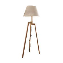 Load image into Gallery viewer, Tripod Wooden Floor Lamp