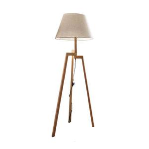 Tripod Wooden Floor Lamp