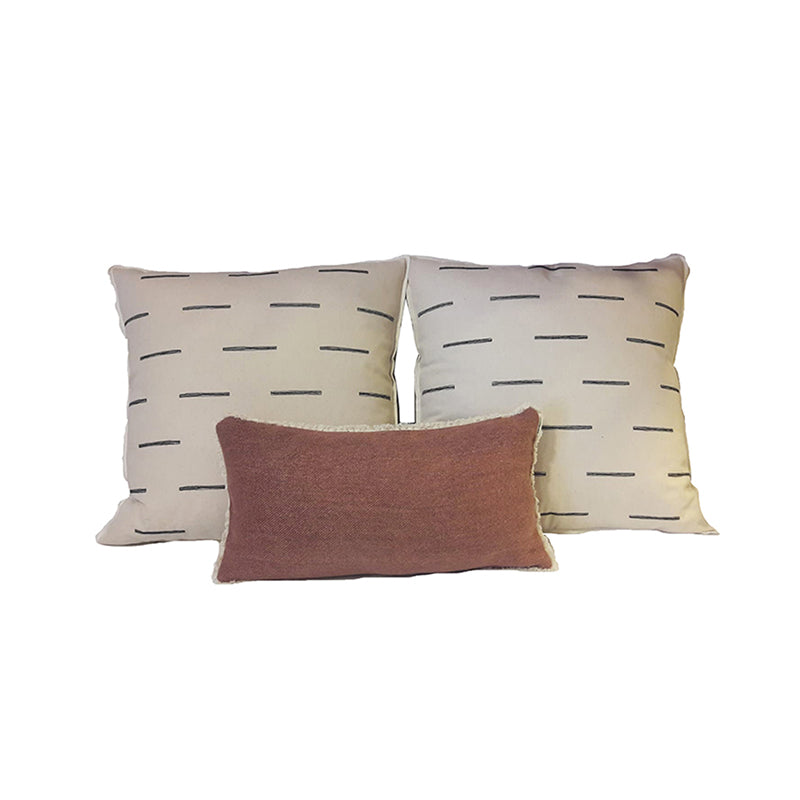 Stripe Break Pillow Set of 3