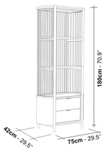 Load image into Gallery viewer, Fence Natural Oak Bookcase