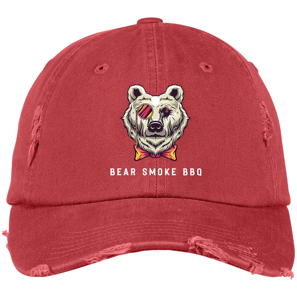 Bear Smoke BBQ Distressed Hat - Bear Smoke BBQ