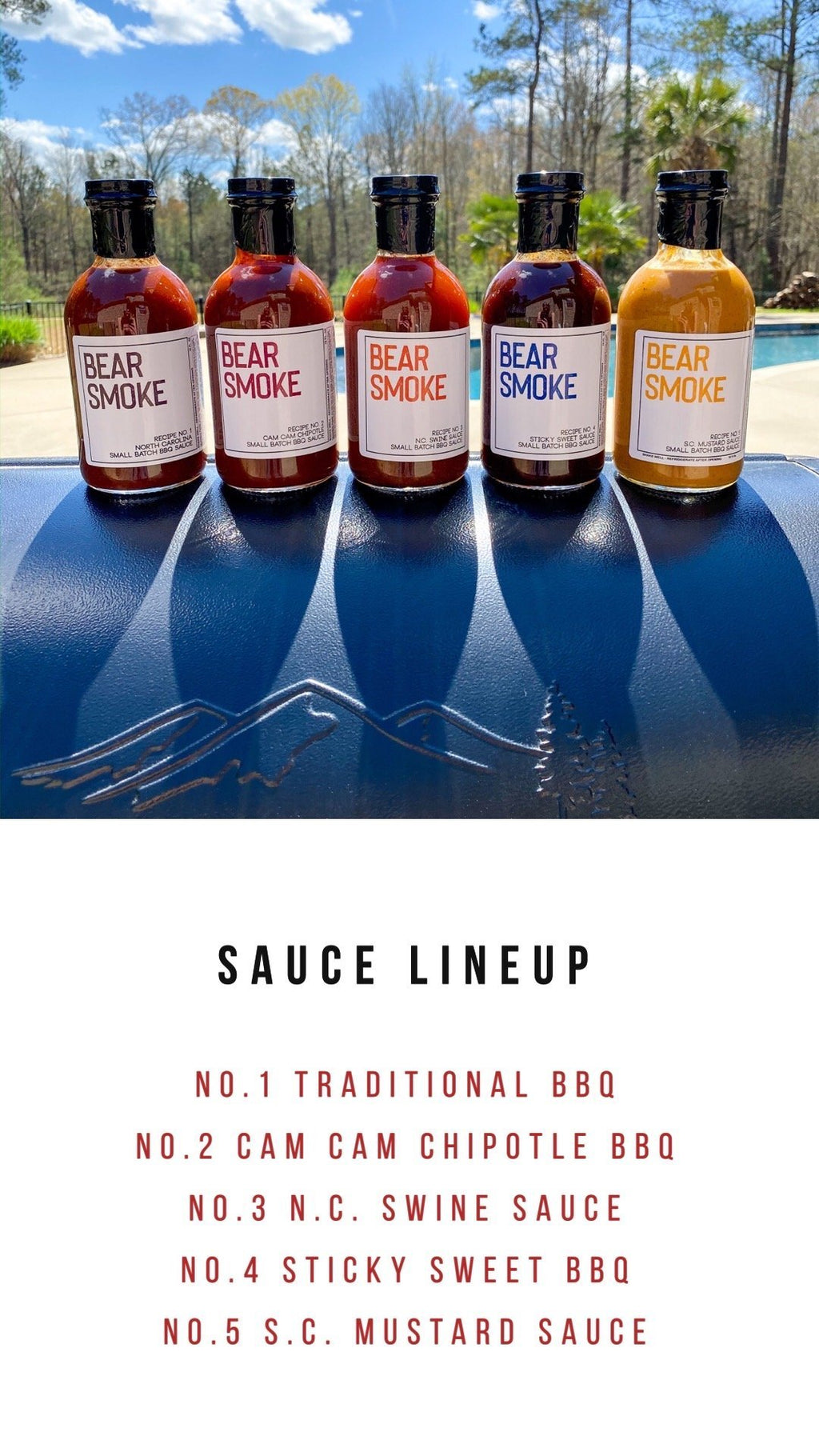 Bear Smoke BBQ - Hand Crafted Barbecue Sauce Sampler - Bear Smoke BBQ