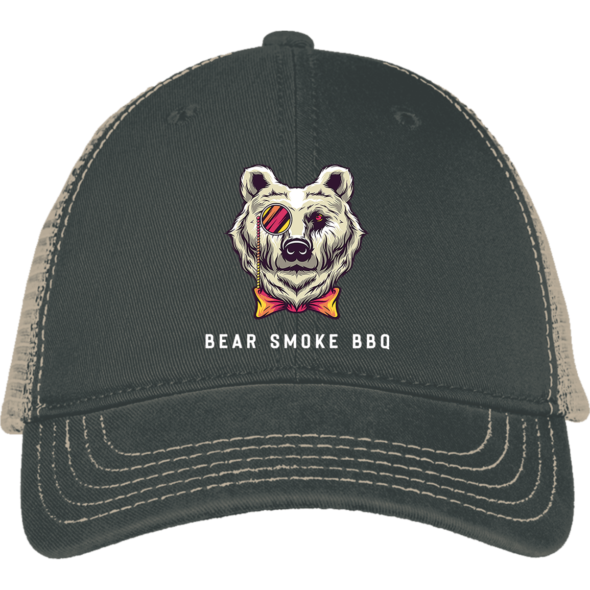 Bear Smoke Mesh Back Cap - Bear Smoke BBQ