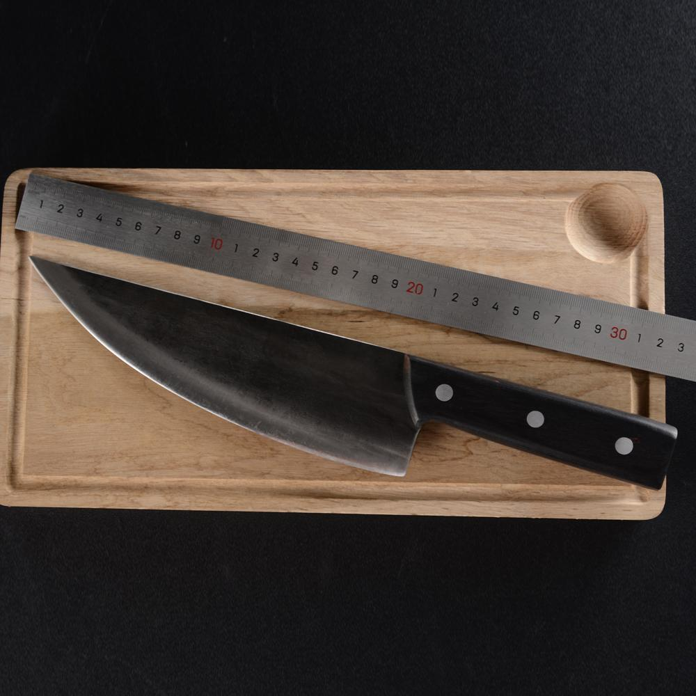 "Handmade Forged High Carbon Full Tang 8"" Chef Knife - Bear Smoke BBQ"