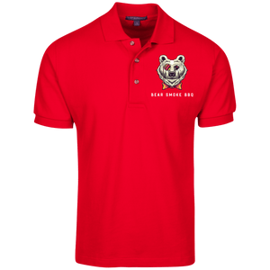 K420 Cotton Pique Knit Polo - Bear Smoke BBQ