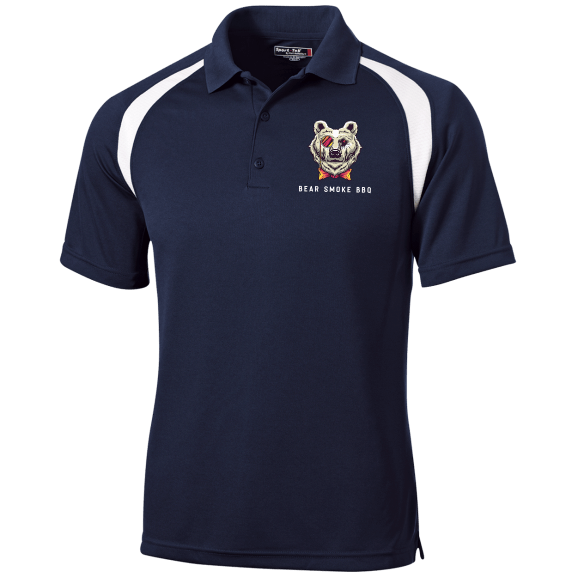 T476 Moisture-Wicking Tag-Free Golf Shirt - Bear Smoke BBQ