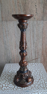33cm Antique Candle Holder Brown - Green Gardens Mihiliya (Pvt) Ltd