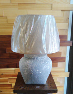 45cm Table Top Ceramic Lamp (with Beige Shade) - Green Gardens Mihiliya (Pvt) Ltd