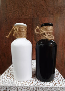 20cm Glazed Ceramic Bottle - Green Gardens Mihiliya (Pvt) Ltd