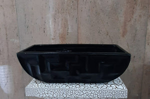 10cm Glazed Boat Base (30cm Length) - Green Gardens Mihiliya (Pvt) Ltd