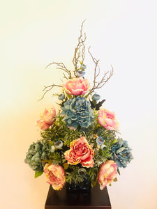 Artificial Flower Arrangement (h: 80cm  w:50cm) - Green Gardens Mihiliya (Pvt) Ltd