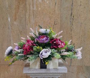 Artificial Flower Arrangement (h: 26cm ,w:50cm) - Green Gardens Mihiliya (Pvt) Ltd
