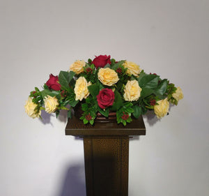 Artificial Flower Arrangement (h:26cm ,w:57cm)
