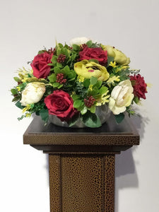 Artificial Floral Arrangement (h:27cm w:37cm)