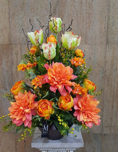 Artificial Flower Arrangement (h:70cm w:45cm)