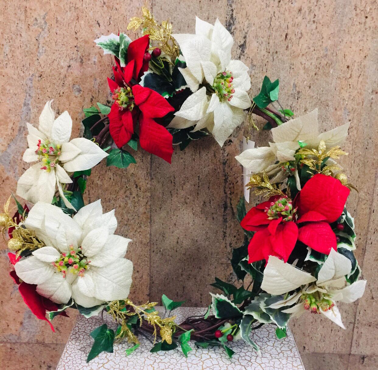 Artificial X'Mas Wreath (h:40cm)