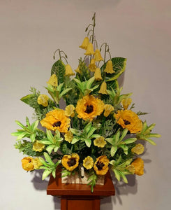 Artificial Floral Arrangement (h:70cm, w:57cm)