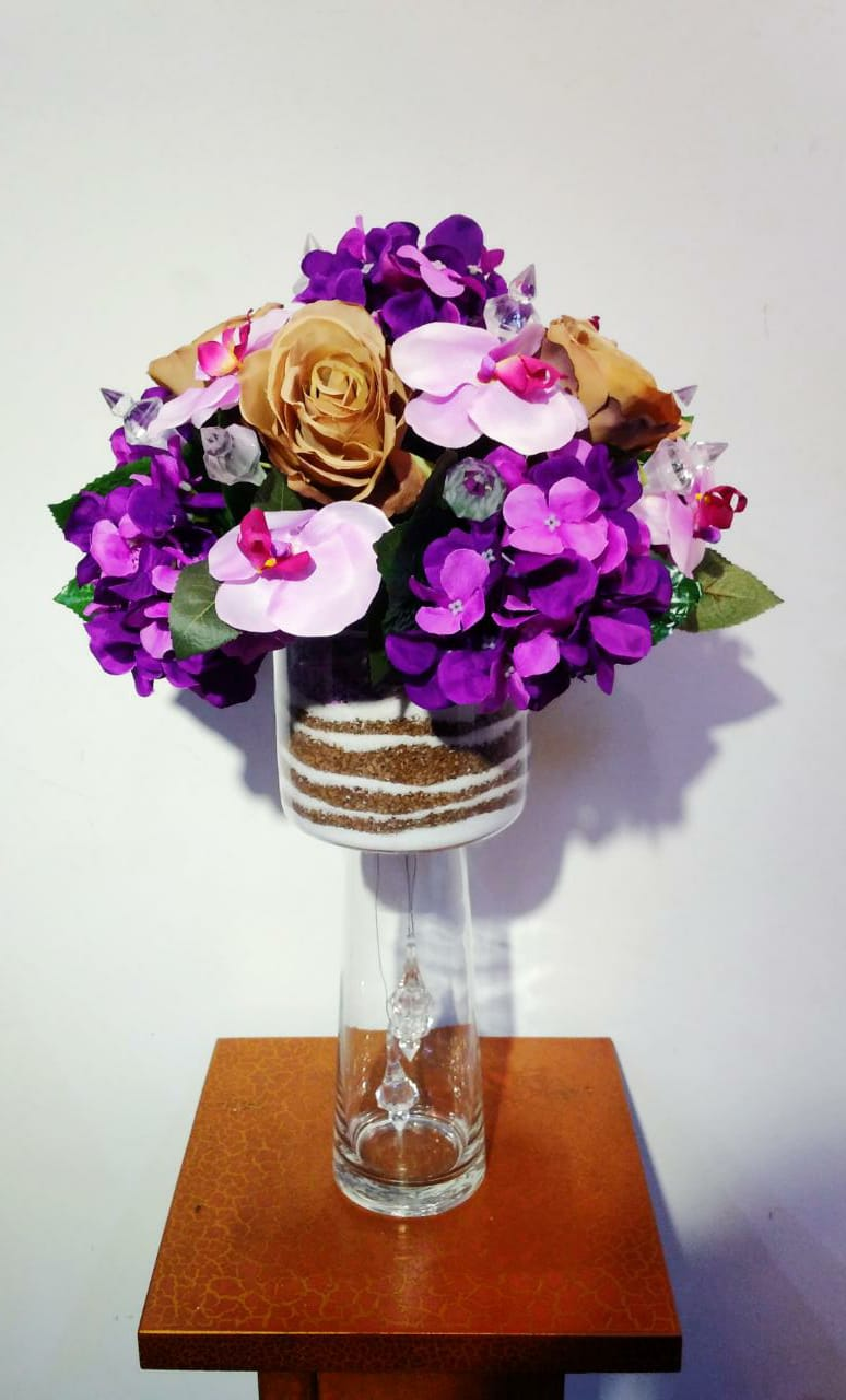 Artificial Floral Arrangement (h:55cm, w:33cm)