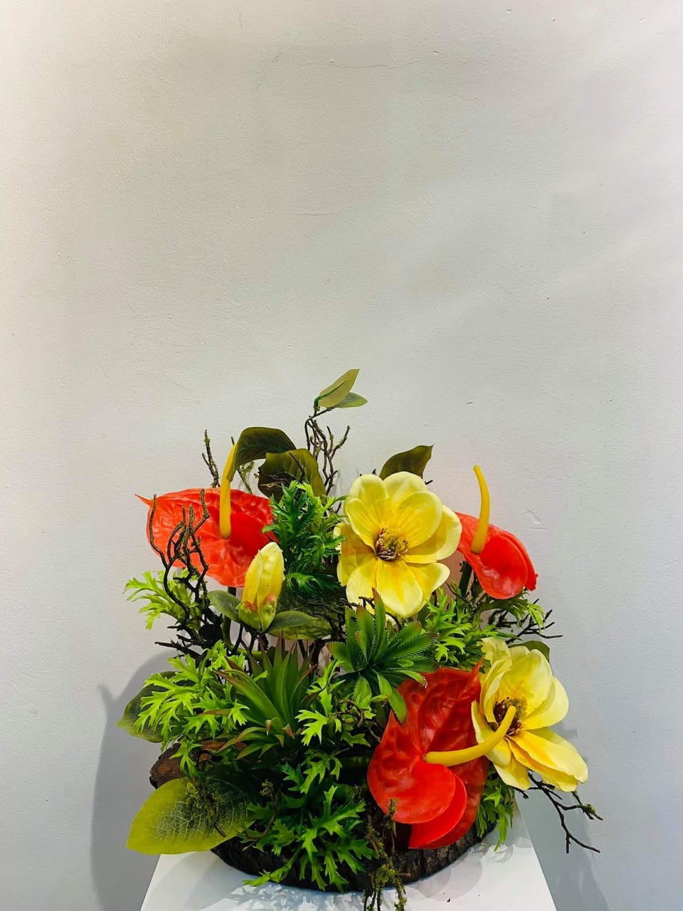 Artificial Floral Arrangement (h:37cm w:36cm)