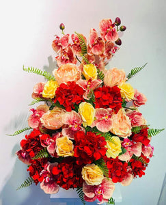 Artificial Floral Arrangement (h:67cm w:59cm)