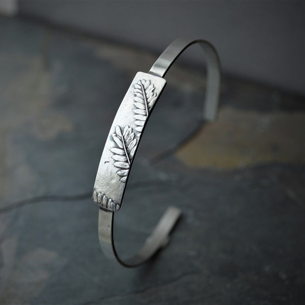 Catclaw Sensitive Briar Leaf Cuff Bracelet in Sterling Silver - Gayle Dowell