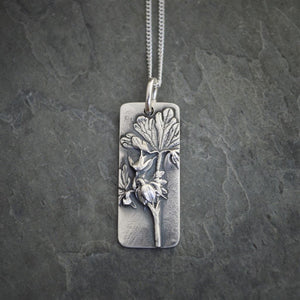 Cranesbill Necklace, Fine Silver Jewelry - Gayle Dowell