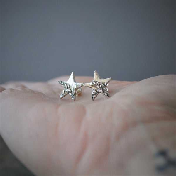 Star Stud Earrings, Prairie Kentucky Bluegrass, Celestial Jewelry - Gayle Dowell