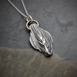 Wheat Necklace, Fine and Sterling Silver - Gayle Dowell