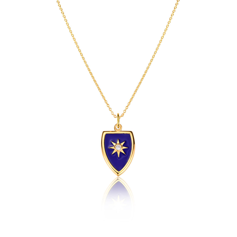 Shield Enamel Necklace